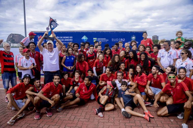 Ao todo, rubro-negros conquistaram 19 medalhas em 15 provas da 2ª Regata do Campeonato Estadual. Foto: Marcelo Cortes / Flamengo