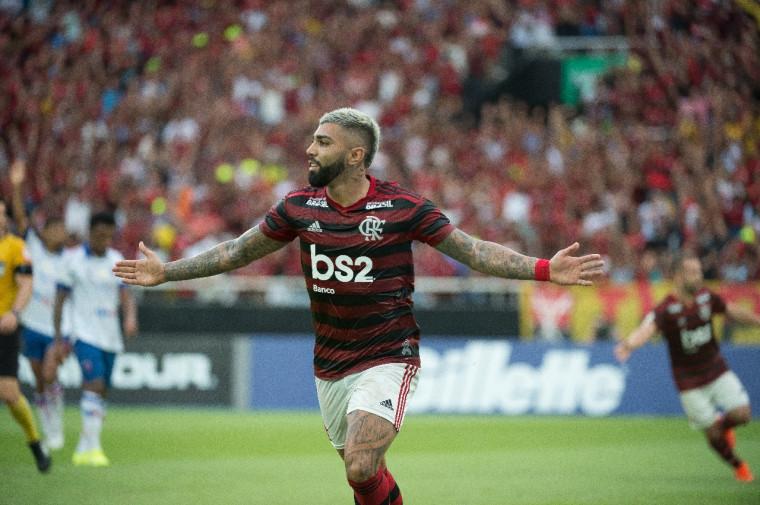 Gabigol é um dos desfalques para hoje a noite. Crédito: Alexandre Vidal - www.flamengo.com.br