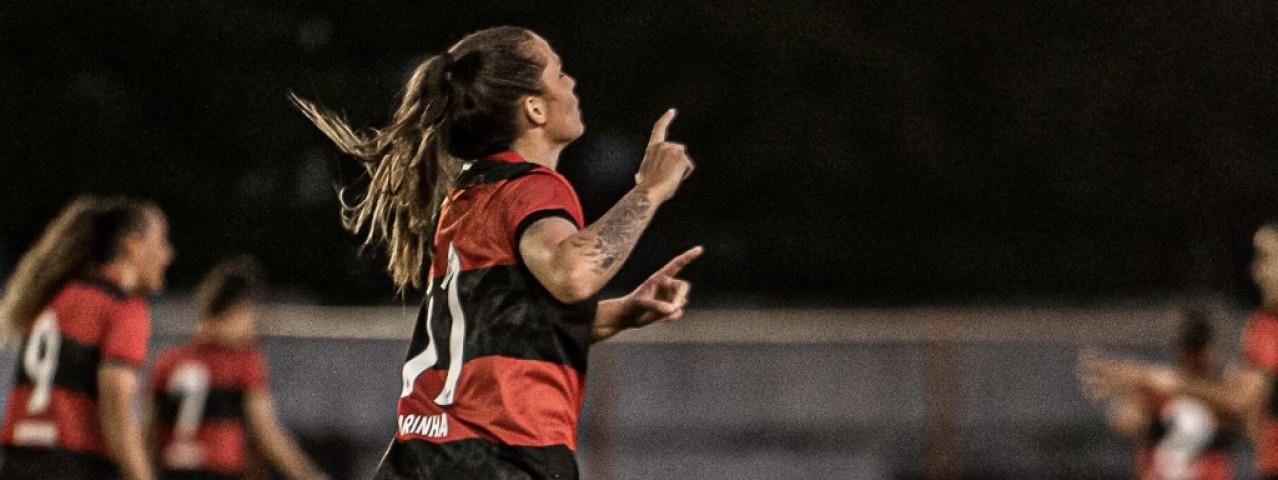 Flamengo tem grande atuação e vence o Santos por 2 a 0 no Brasileirão Feminino