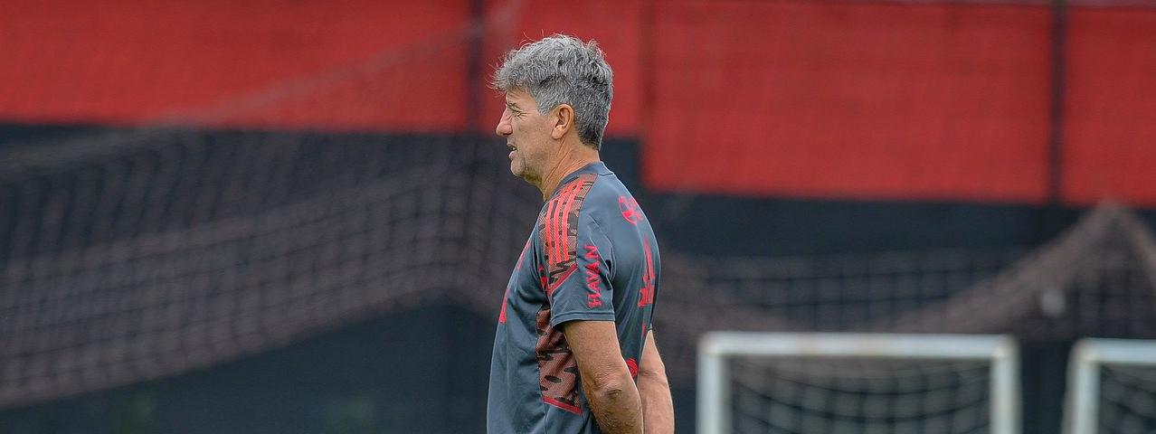 Flamengo encerra a preparação para a partida contra o Grêmio