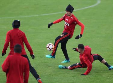 Treino do Flamengo em Bogotá - 24/04/2018