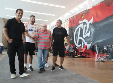 Zagallo visita  o CT do Flamengo - 30/11/2018