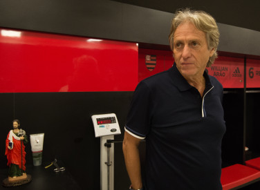 Jorge Jesus visita CT do Flamengo - 08-06-2019