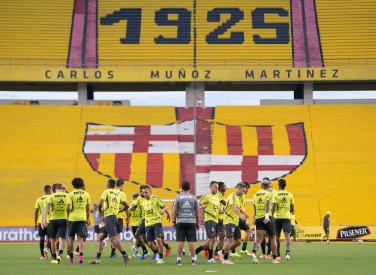 Treino do Flamengo no Estádio Monumental do Barcelona de Guayaquil - 23-07-2019