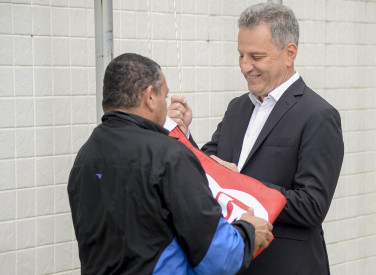 Hasteamento da bandeira do Flamengo na FERJ - 05-08-2019