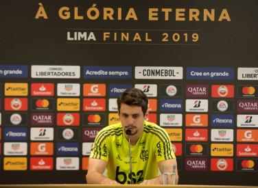Coletiva Conmebol Libertadores Rodrigo Caio -19-11-2019
