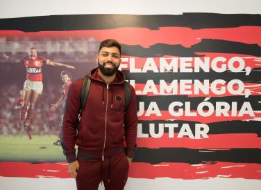 Gabigol chega ao CT do Flamengo - 28-01-2020