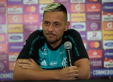 Coletiva Diego Alves - Conmebol Libertadores - 03-03-2020