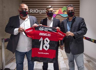 Chegada ao Rio de Janeiro do jogador Andreas Pereira - 20-08-2021
