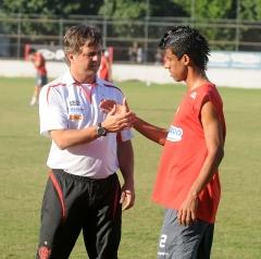 Treino futebol profissional, na Gávea - 08/07/10