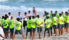 Treino futebol profissional, na praia (28.07)