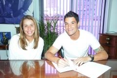 Apresentação do meia Thiago Neves, na Gávea