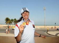 Fabiana Beltrame tem recepção de campeã no Rio - 06-09-2011