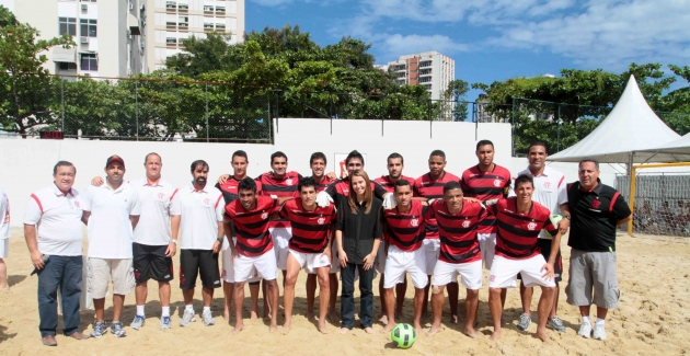 Futebol de areia- Flamengo X Lokomotiv-06/05/2012