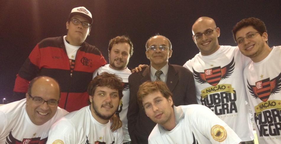 Sócios-torcedores assistem jogo contra o Remo no Camarote do Flamengo
