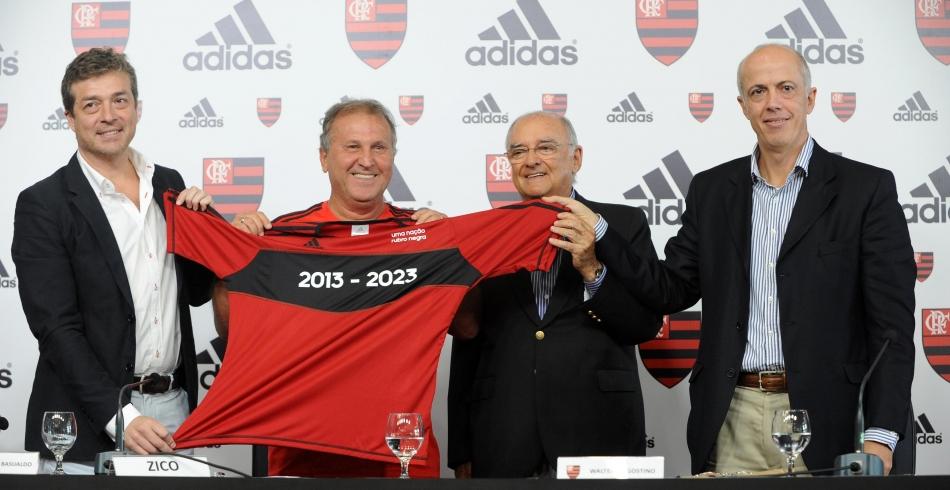 Flamengo apresenta Adidas como nova fornecedora esportiva - 09-05-2013