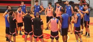 Treino do time de Basquete - 10/09/2014
