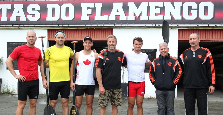 Visita de atletas canadenses - 13/11/2014