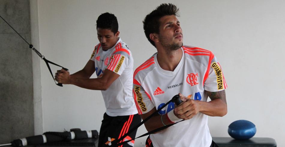Treino do Flamengo em Brasília - 18/01/2015
