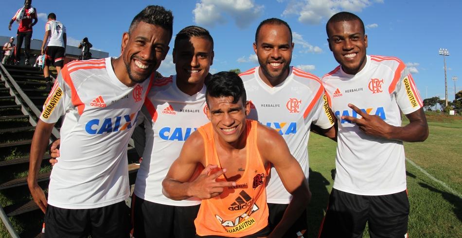 Treino do Flamengo em Brasília - 19/01/2015