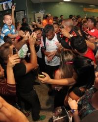Chegada do Flamengo em Manaus - 19/01/2015
