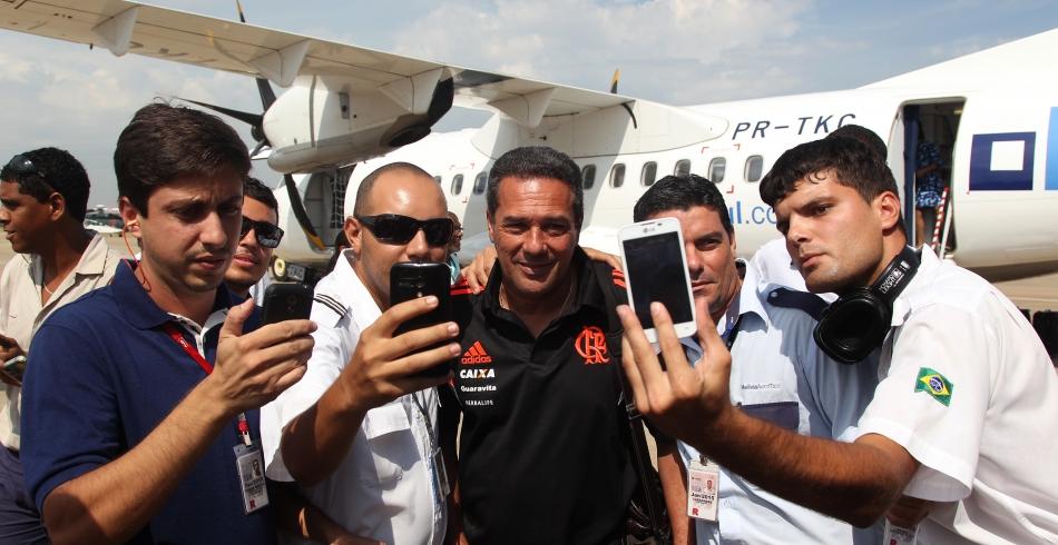 Chegada do Flamengo a Macaé - 30/01/2015