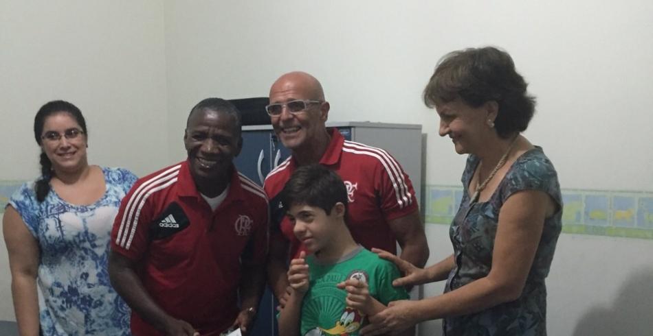 Adílio e Júlio César visitam Clínica-Escola do Autista