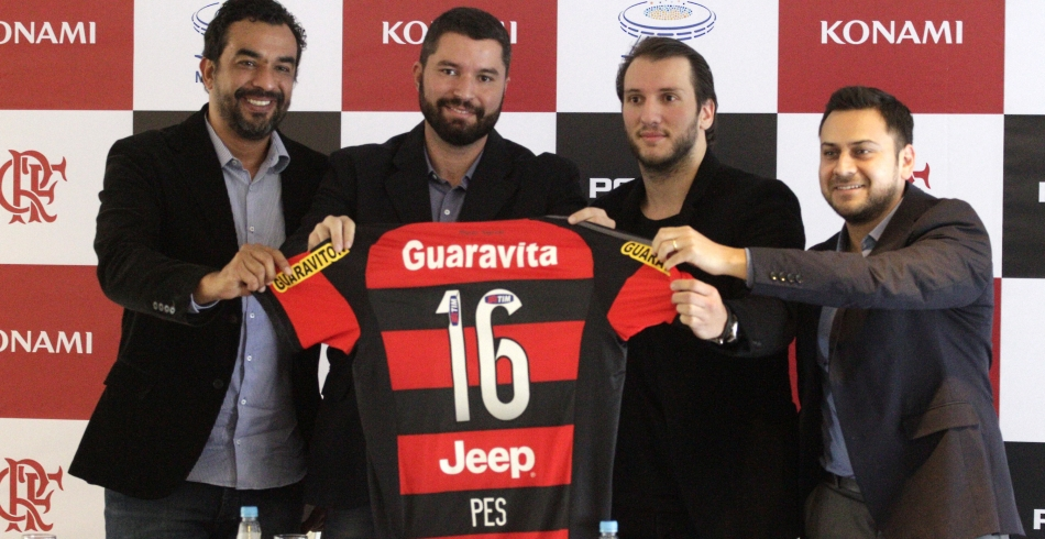 Lançamento da parceria entre Flamengo e PES 2016 - 09/09/2015