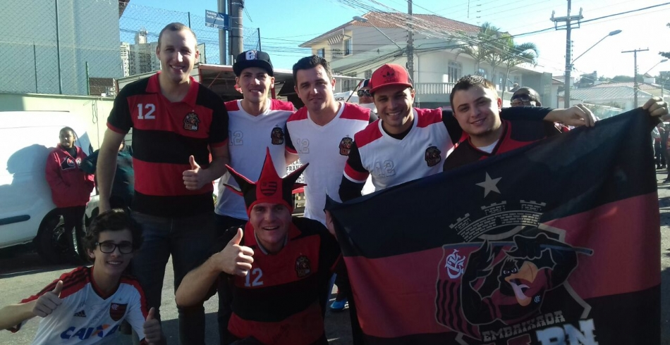 Embaixadas catarinenses no Figueirense x Flamengo