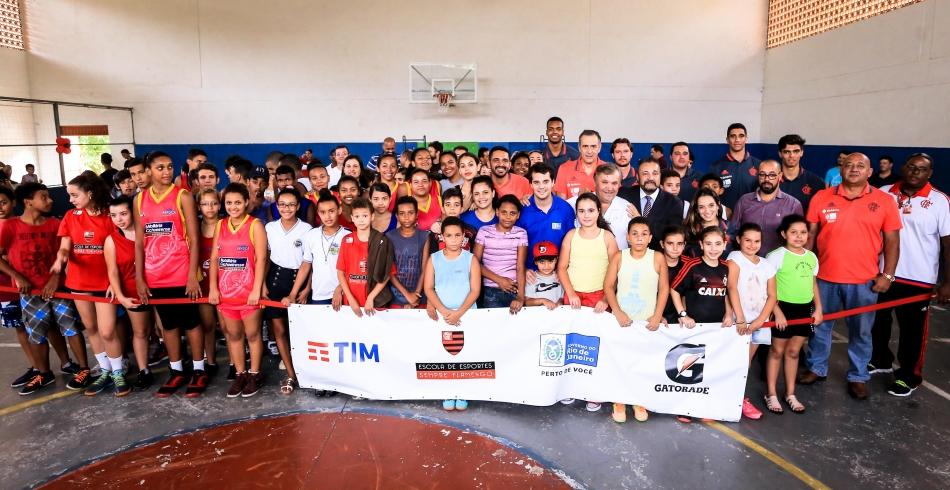 Inauguração da Escolinha de Basquete em Cachoeira de Macacu - 21/10/2016