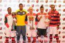 Flamengo lança novos uniformes na Gávea