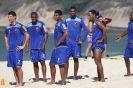 Elenco rubro-negro treina forte na praia do Recreio